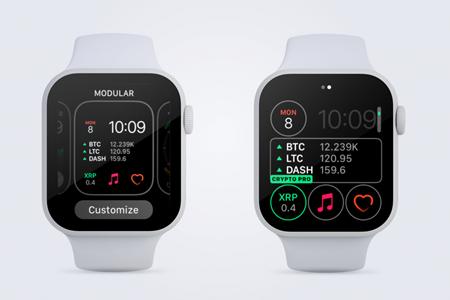 apple watch cryptocurrency proportfolio