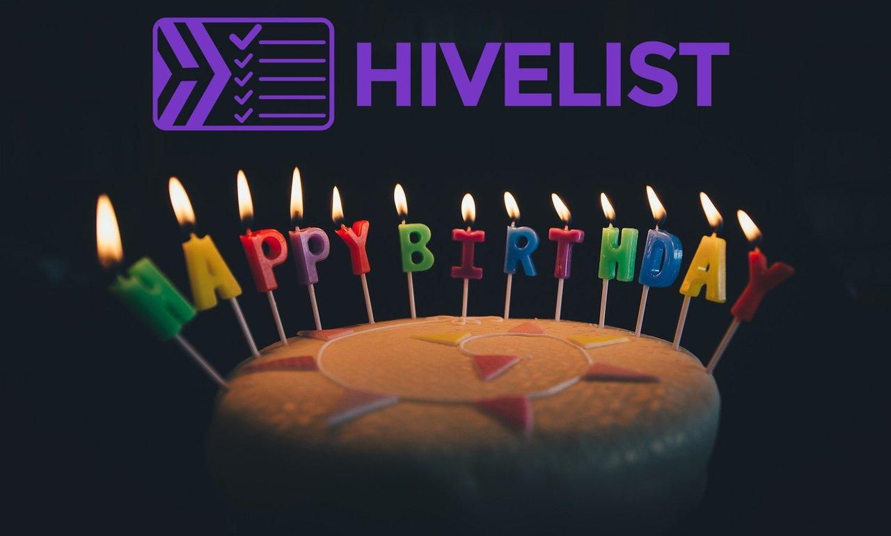Happy Birthday Hivelist! We Are Turning 1 Today!