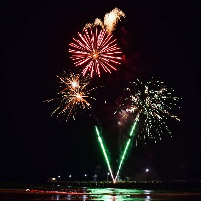 New Year Fireworks at Semaphore Jetty.