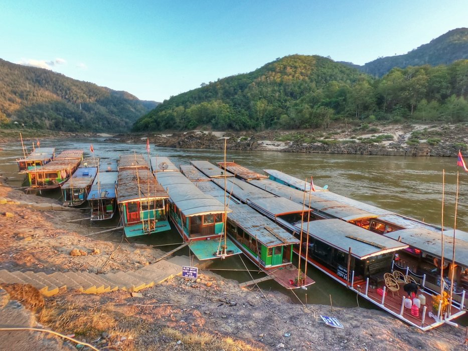 Slow boat from Pakbeng to Luang Prabang