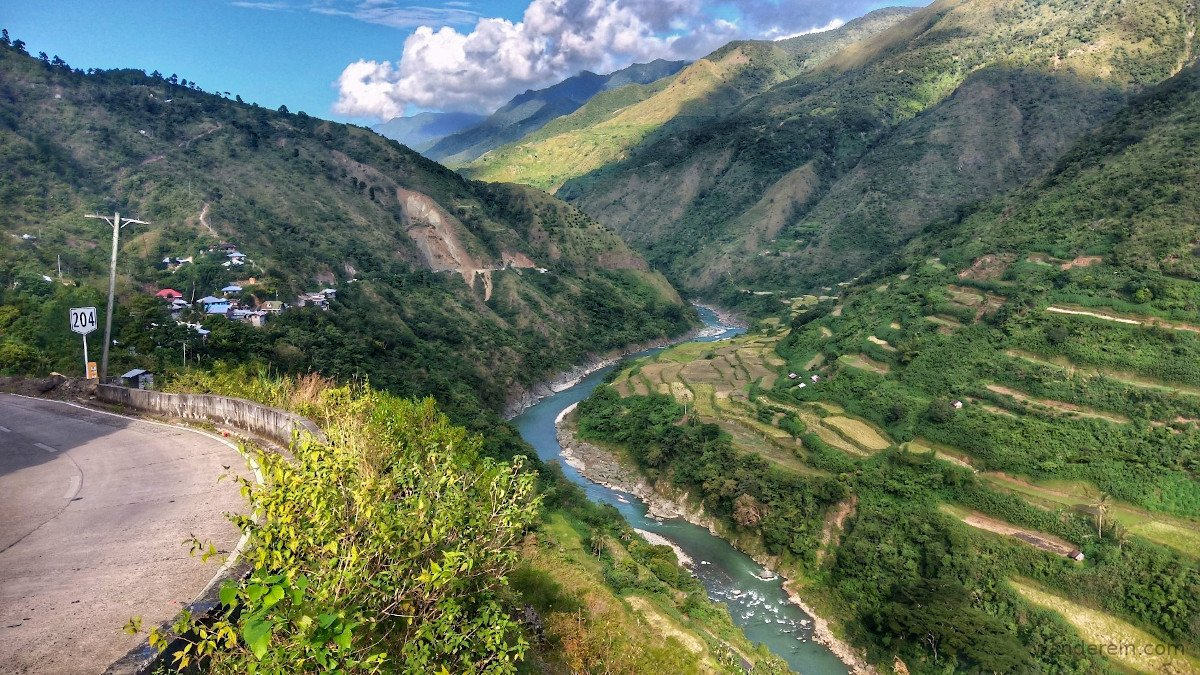 Chico river surrounded by rice terraces