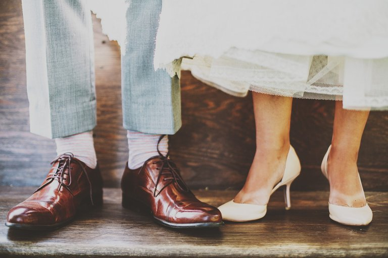 couple and shoes