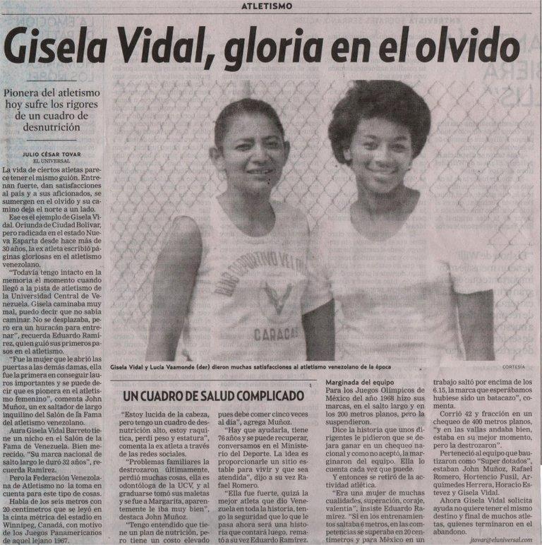 Gisela Vidal, gloria en el olvido.jpg