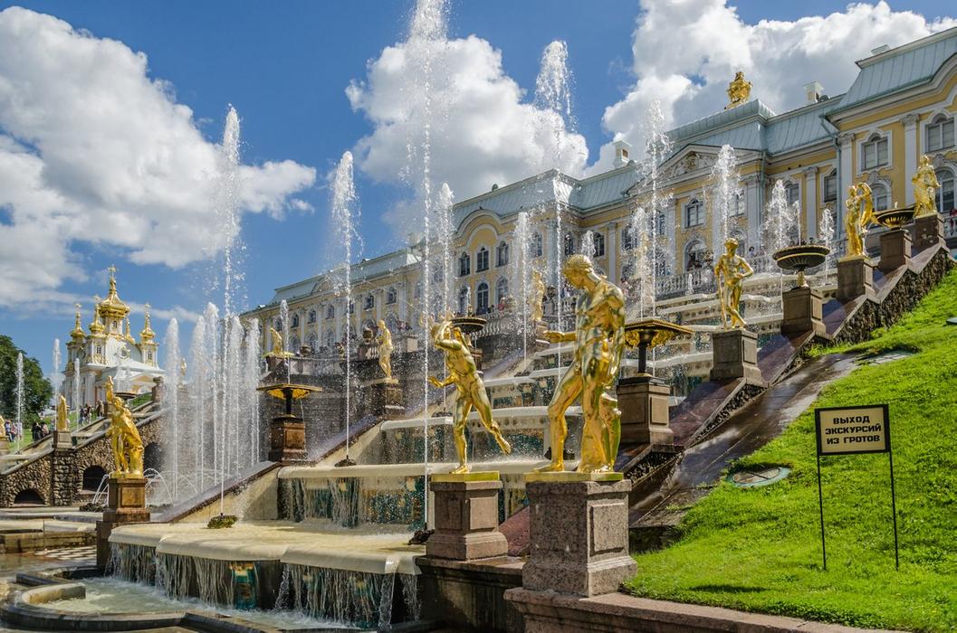 Great cascade of Peterhof