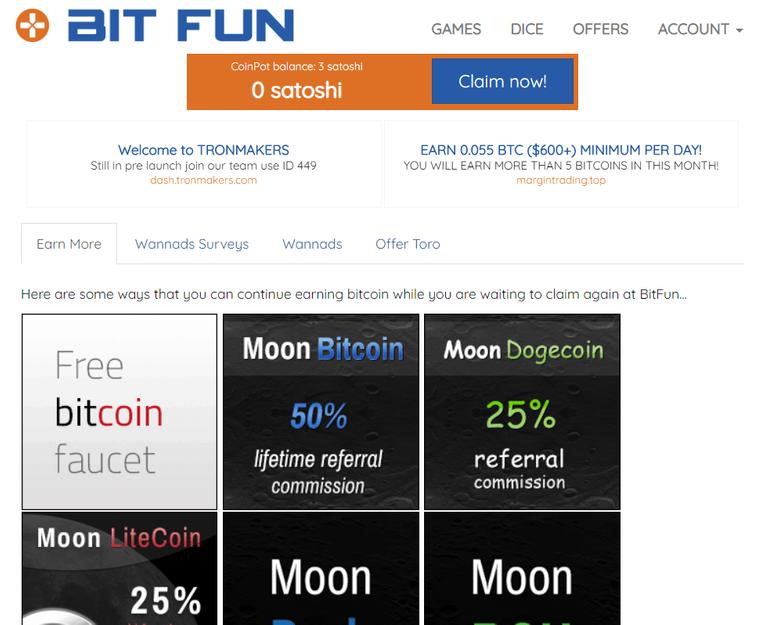 BitFun Faucet Connected with CoinPot