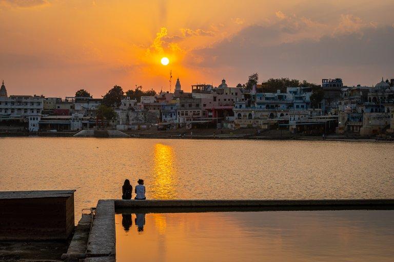 Sunset in Pushkar