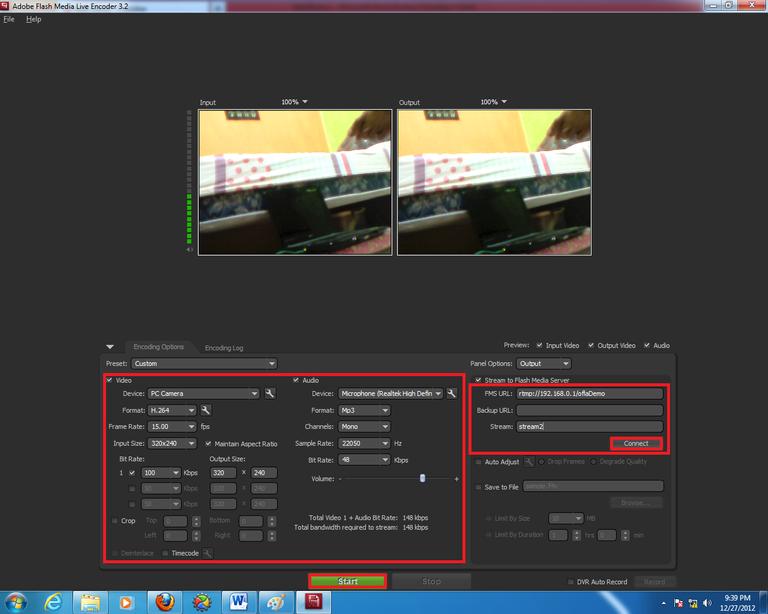 Gambar 3.11 Pengaturan pada Adobe Flash Media Live Encoder.png