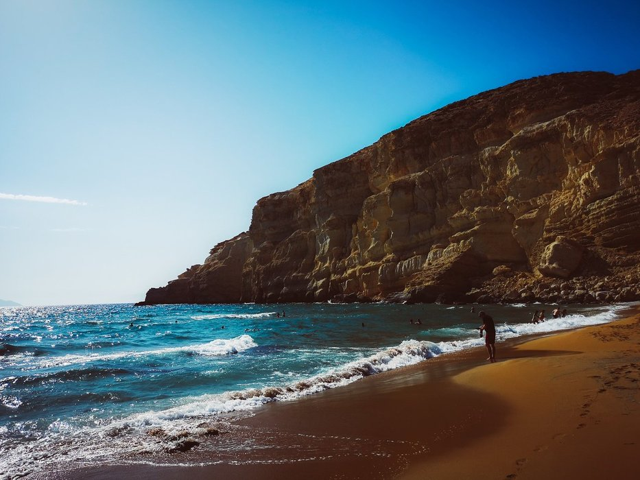 The Red Beach, Crete Island