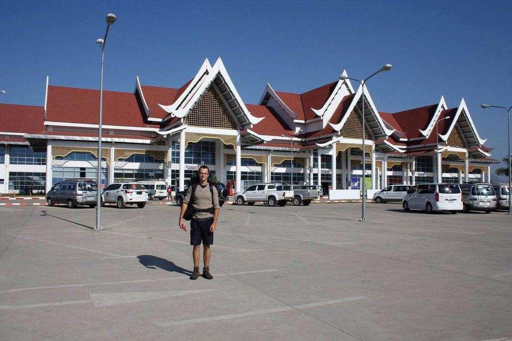 Luang Prabang International Airport is located 4 kilometers from the center of Luang Prabang in northern Laos.