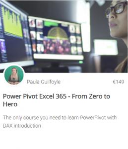 Power Pivot online training course