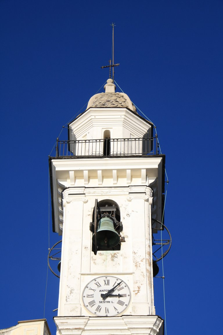 The bell tower of the church of Santa Giulia
