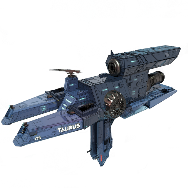 One of our ship arts by Nachofigx. Taurus class transport.
