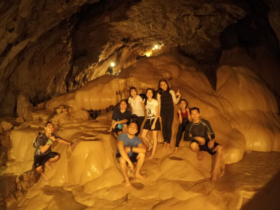 Had to walk the inside of the cave barefooted.