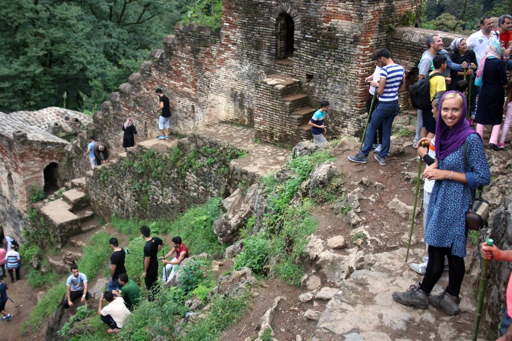 Medieval Rudkhan castle. Gilan province, Iran.