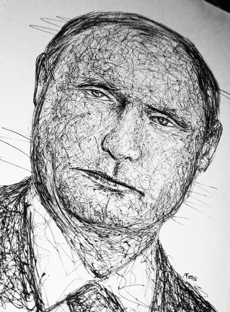 My Scribble Drawing Of Vladimir Putin The Russian President Hive
