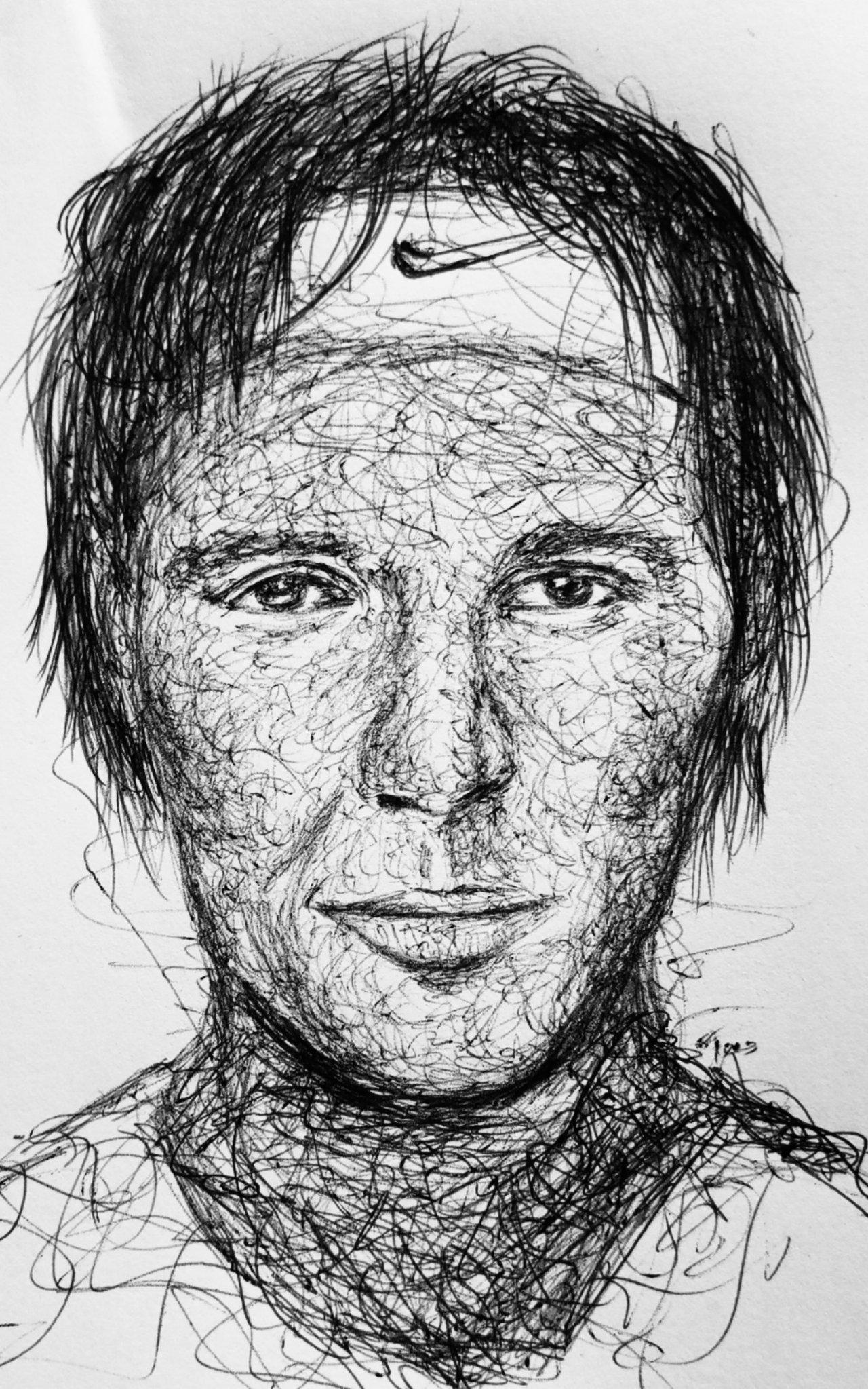 My Scribble Drawing Of Rafael Nadal The Spanish Tennis Player Peakd