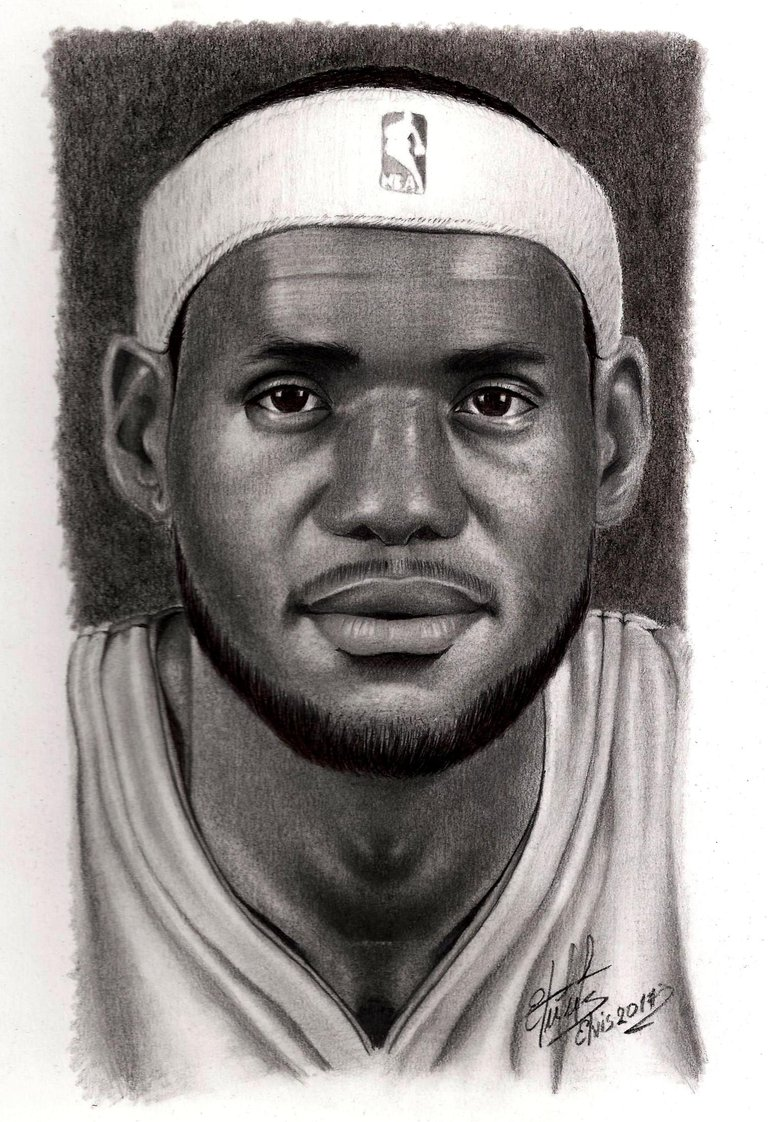 Lebrom James retrato en dibujo 001.jpg
