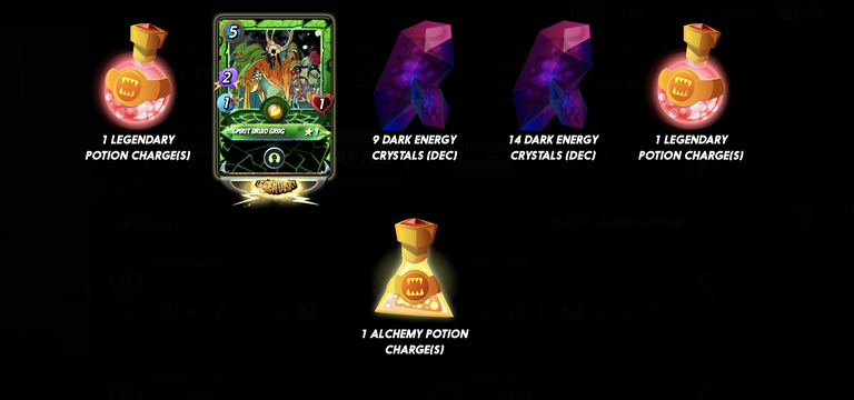 Legendary rewards!