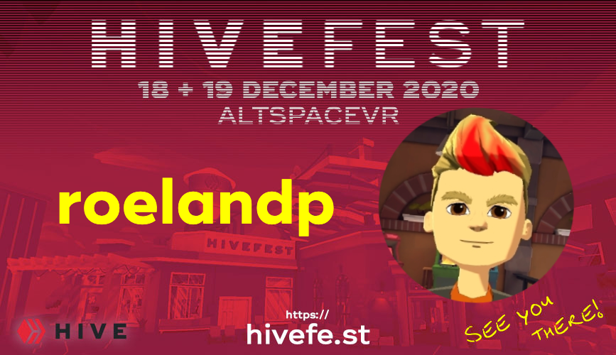 @roelandp is going to HiveFest5