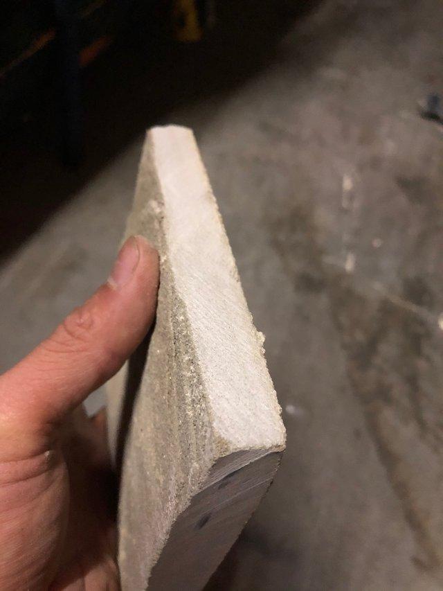 Piece of cut sandstone slate