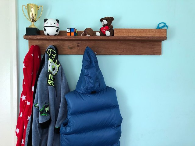 Making a wall coat hanger for my son's room