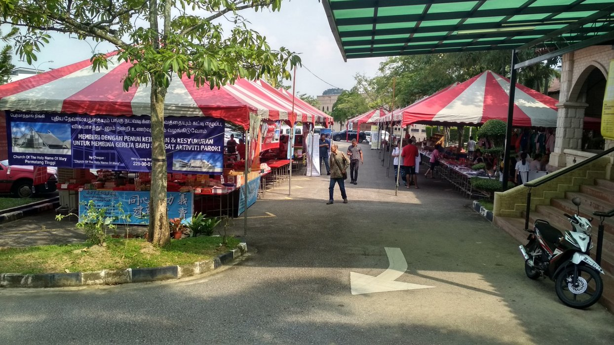 During this time of the year, there will be donation booth at the back of the church