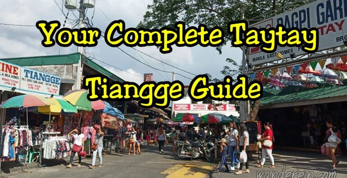 Your Complete Taytay Tiangge Guide: 2020 Schedule & Prices