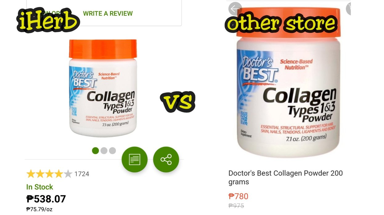 Collagen for healthier skin, hair and bones. P242 savings and even more when iHerb goes on sale!