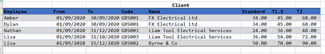 multiple column match excel
