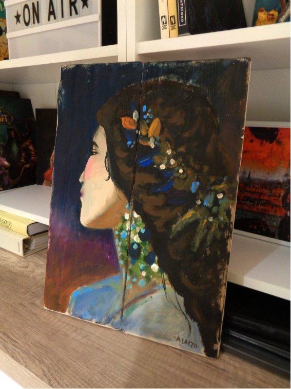 rusztikus fa festett portre agnes laczo art.jpg