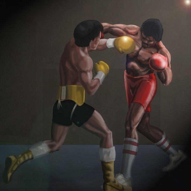 rocky vs apollo painting的圖片搜尋結果.jpeg