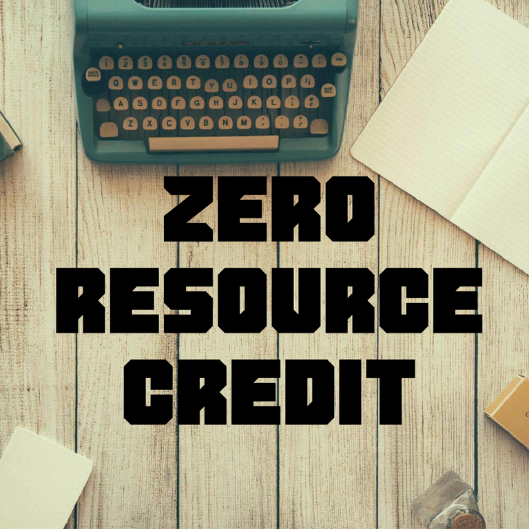 zero resource credit