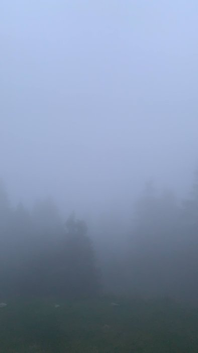 'Widok' z schroniska na Turbaczu o zachodzie słońca