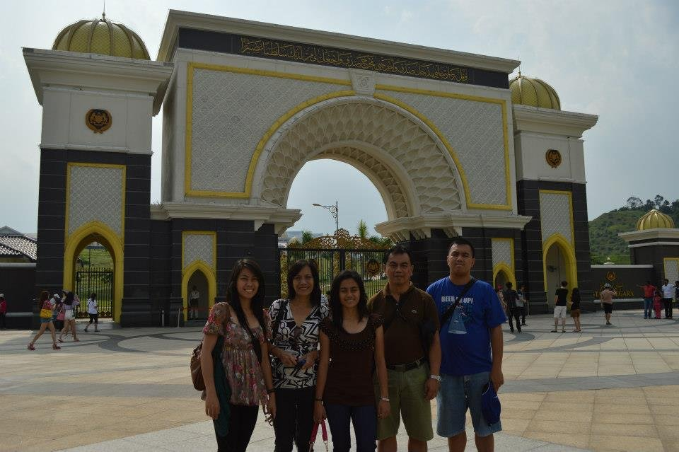 Behold my lovely family at Istana Negara during our Malaysia trip last May 2013