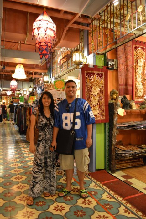 This is me and my young sister Aira at the Central Market in Malaysia