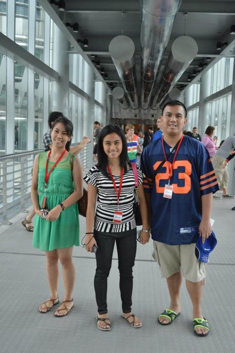 My siblings and I at the bridge of Petronas Twin Towers