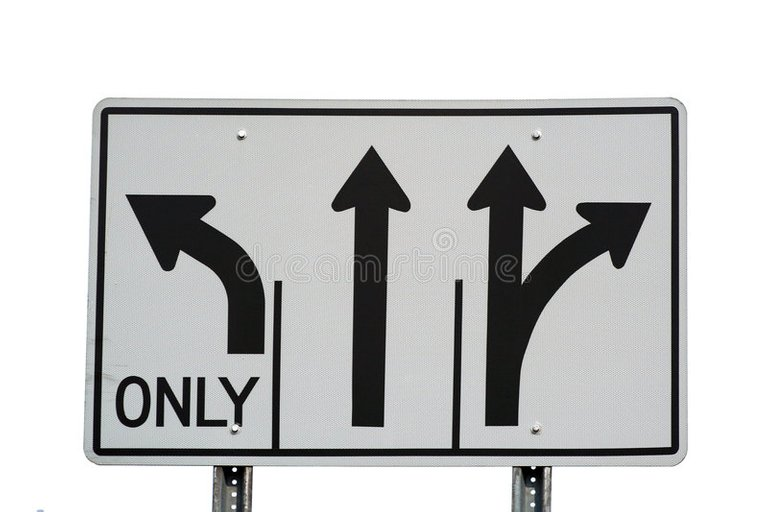 Arrows sign. A sign with three arrows on it stock photography