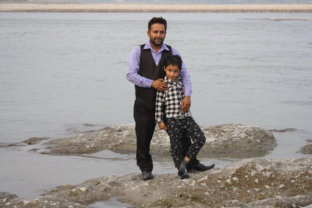 Our dearest friend Tara Adhikari and his son Ananda.