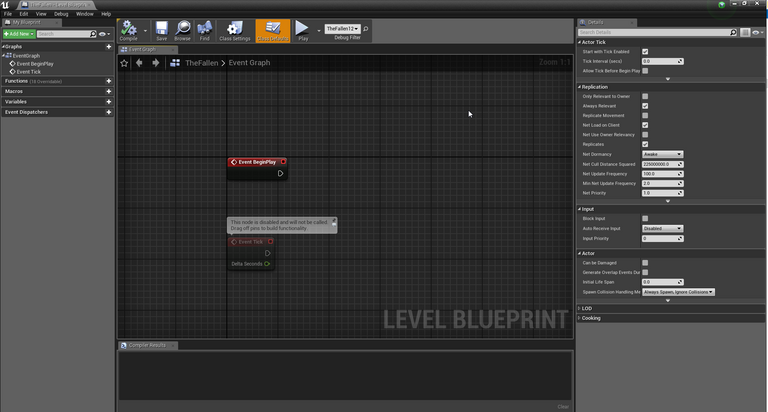 Unreal Engine Level blueprint for the zone.png