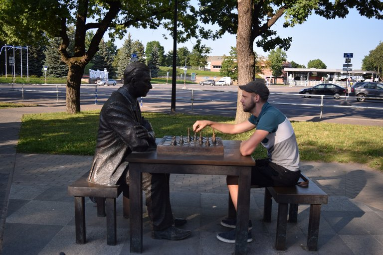 Playing chess with the locals