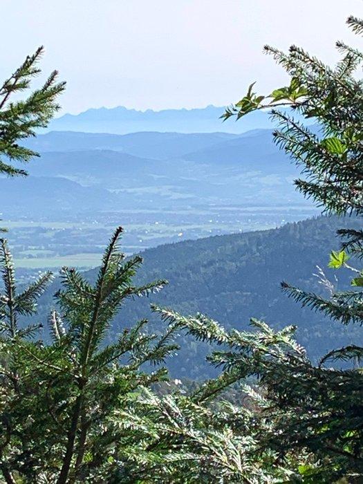The Tatras viewed from Klimczok peak, Poland