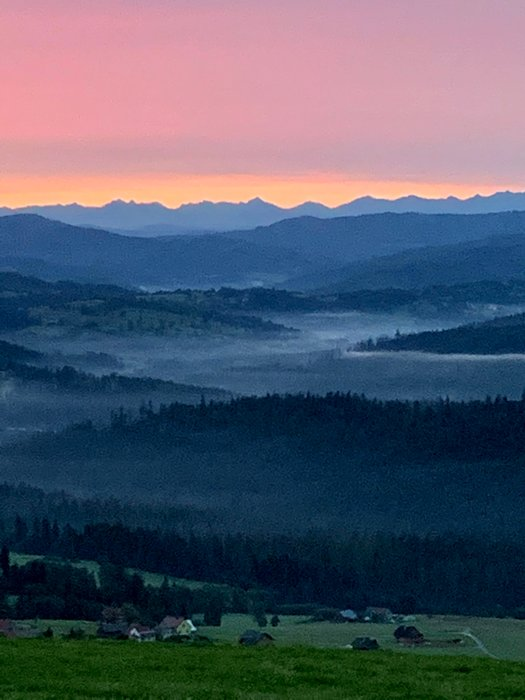 The Tatras viewed from Ochodzita peak, Poland