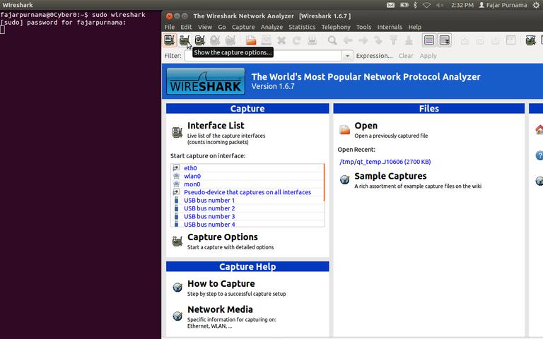 3 Open wireshark sudo wireshark and open the capture option.png