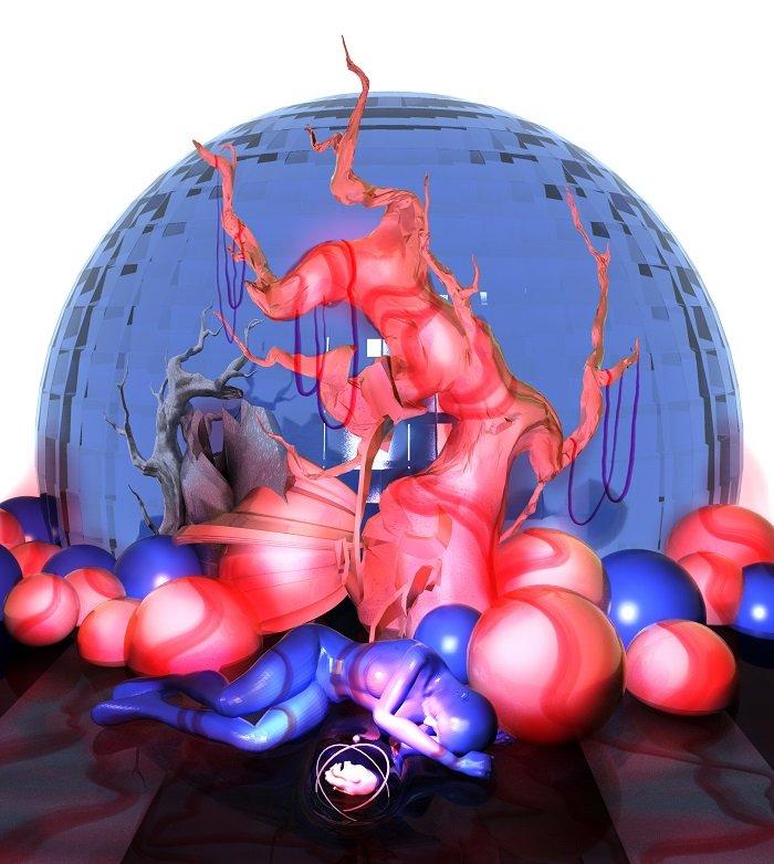 sleeping woman red blue12tttty.jpg
