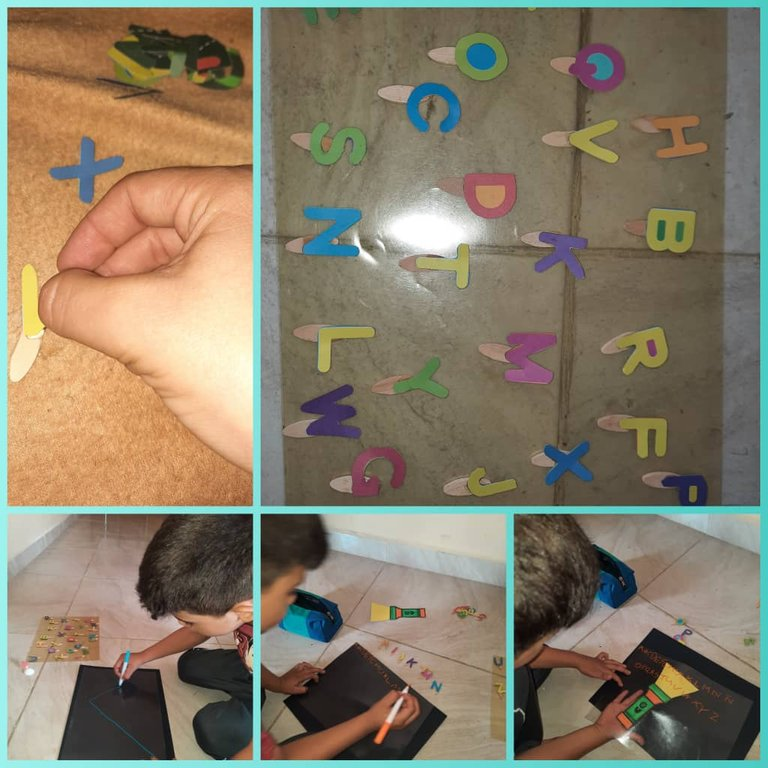Buscar letras que se indica y escribir el abecedario/Find the letters indicated and write the alphabet.