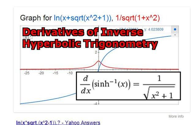 Derivative of Inverse Hyperbolic Trig  inverse sinhx.jpeg