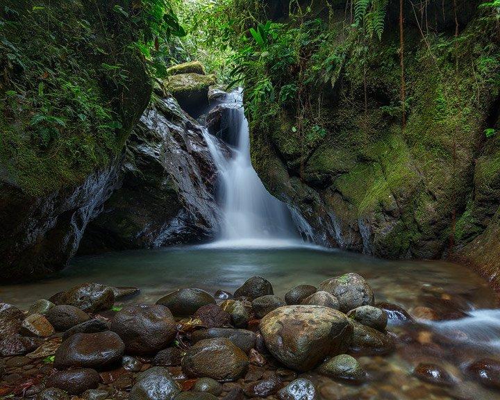 Waterfall in Sanctuario de las cascadas