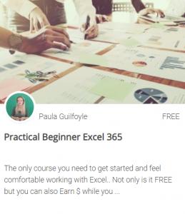 FREE beginner excel training