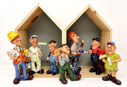 Housebuilding, Craftsmen, Site, Workers
