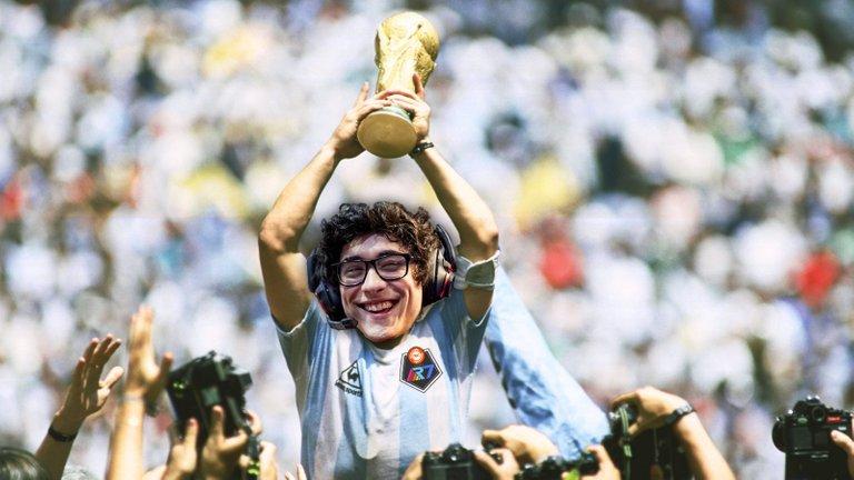 Josedeodo Face in Maradona's